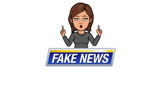 A bitmoji of Fake News