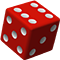 A red dice