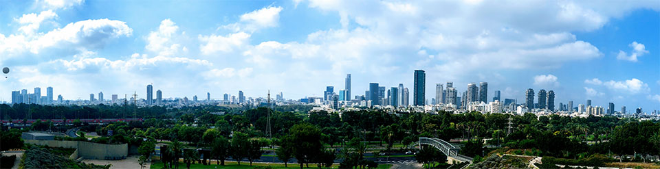 The view of Tel Aviv from the Center