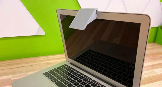 A document camera, made by the IgnitED Labs, on a laptop