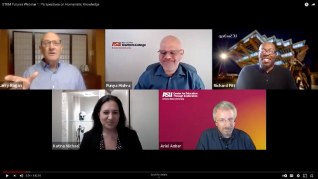 A screenshot of Stem Futures Webinar 1: Perspectives on Humanistic Knowledge