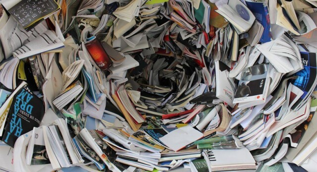 A massive vortex of magazines and papers