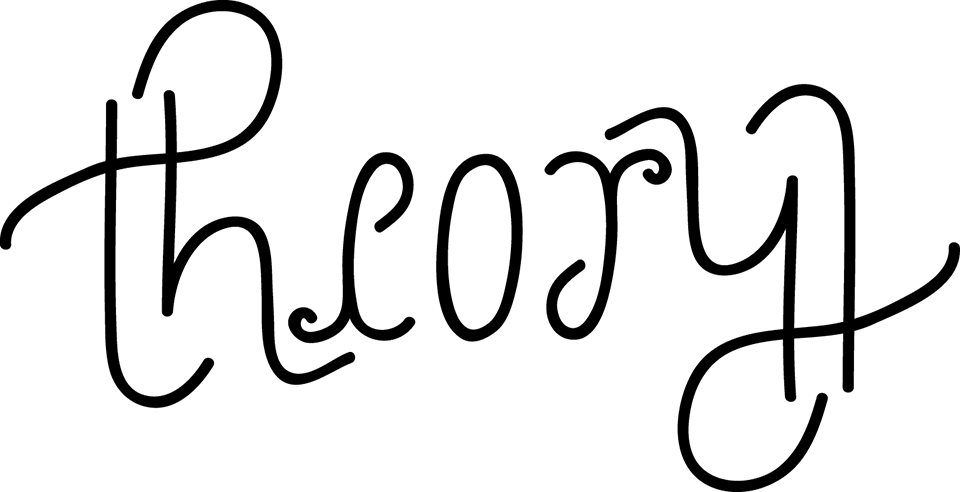 an ambigram of the word Theory