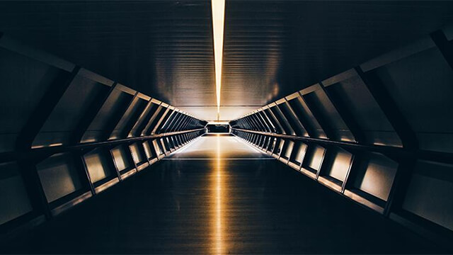A science fiction-ey looking tunnel