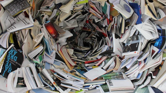 A swirling bottomless pit of books